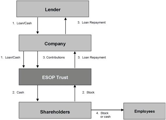 leveraged ESOP Chart